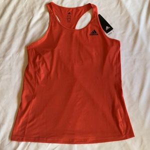 NEW Adidas Orange Racerback Tank Top Womens Large